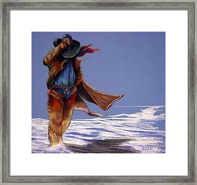 North Wind Blowin' Framed Print