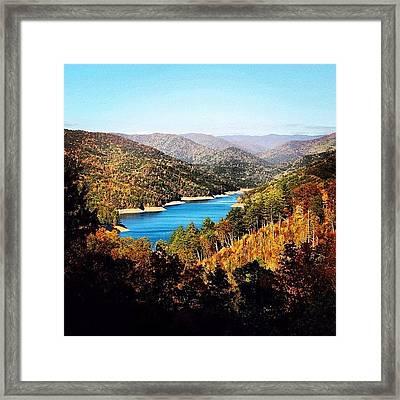 #northcarolina #smoky #mountain #lake Framed Print