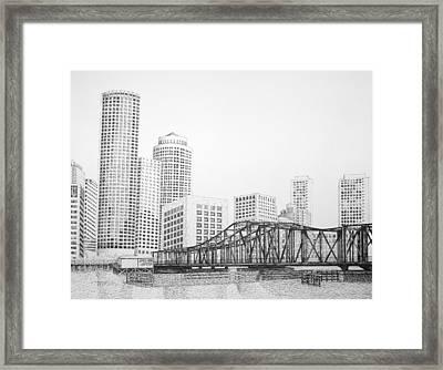 Northern Avenue Bridge - Boston Framed Print by Tim Murray