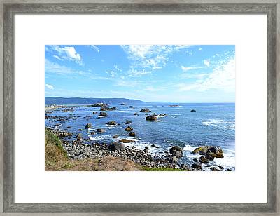 Northern California Coast3 Framed Print by Zawhaus Photography