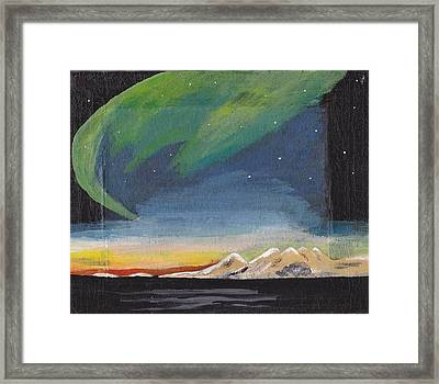 Framed Print featuring the painting Northern Lights 2 by Audrey Pollitt