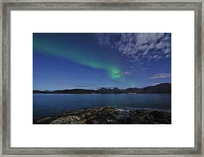 Northern Lights At Sommaroy Framed Print by Bernt Olsen