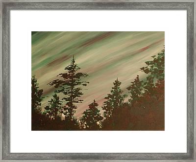 Northern Lights Framed Print by Debbie Beck
