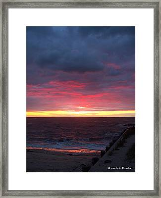 Northern Lights In Cape May Framed Print