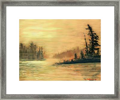 Northern Ontario Summer Morning Framed Print by Ian  MacDonald