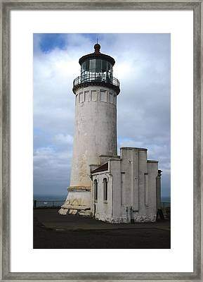 Northhead Lighthouse At Cape Disappointment  Framed Print