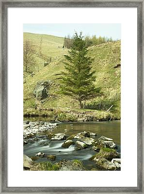 Framed Print featuring the photograph Northumberland, England A River Flowing by John Short