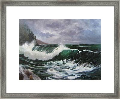 Northwest Currents Framed Print by Colleen Lambert