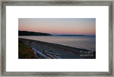 Northwest Evening Framed Print by Mike Reid
