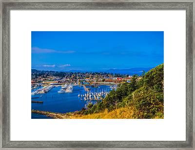 Northwest Harbor Framed Print by Ken Stanback