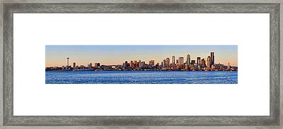 Northwest Jewel - Seattle Skyline Cityscape Framed Print