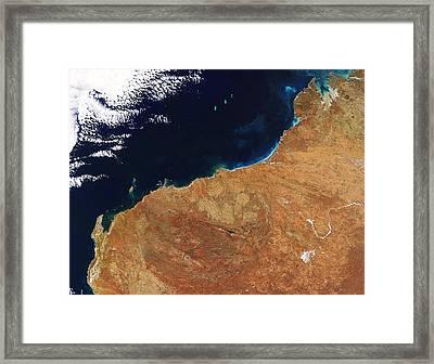Northwestern Australia, Satellite Image Framed Print