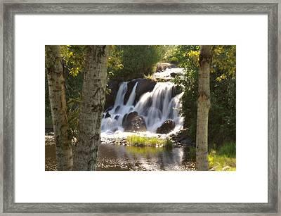 Northwoods Falls Framed Print by Marty Koch