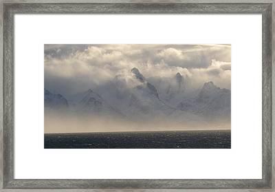 Norwegian Arctic Hills Framed Print by Christopher Mullard