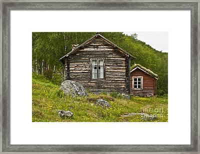 Norwegian Timber House Framed Print by Heiko Koehrer-Wagner