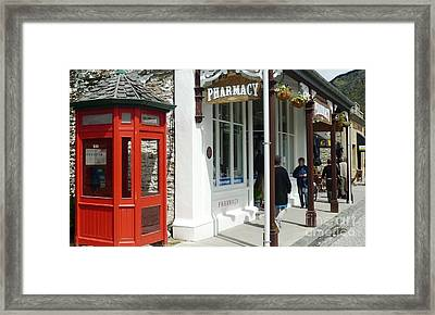 Nostalgia In Arrowtown Framed Print by Therese Alcorn