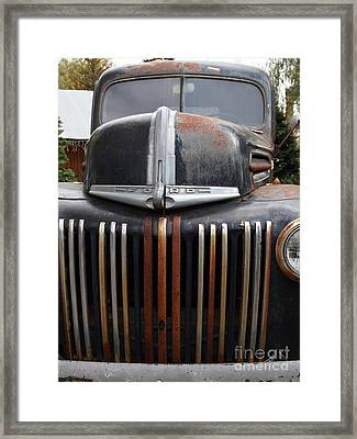 Nostalgic Rusty Old Ford Truck . 7d10281 Framed Print by Wingsdomain Art and Photography