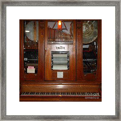 Nostalgic Wurlitzer Player Piano . 7d14400 Framed Print by Wingsdomain Art and Photography