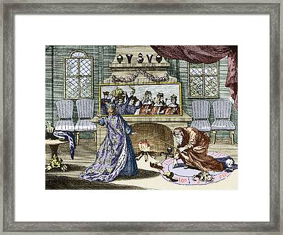 Nostradamus's Magic Mirror Framed Print by Sheila Terry