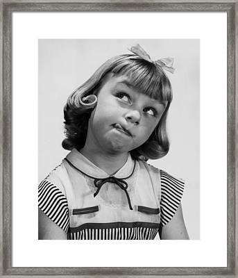 Not A Care Framed Print by A E French