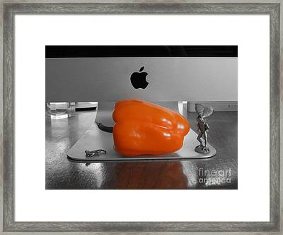 Not A Mac Framed Print by Linda Seacord