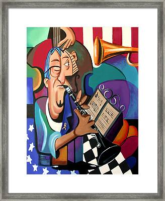 Not Blowing Your Own Horn Framed Print by Anthony Falbo