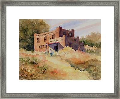 Not Far From Espanola Framed Print by Sam Sidders