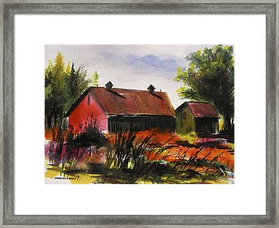 Not Far Off The Road Framed Print by John Williams