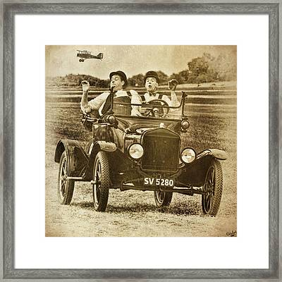 Not Likely Laurel And Hardly Hardy Framed Print