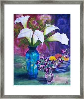 Not So Still Life Framed Print