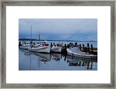 Framed Print featuring the photograph Not Today by Linda Mesibov