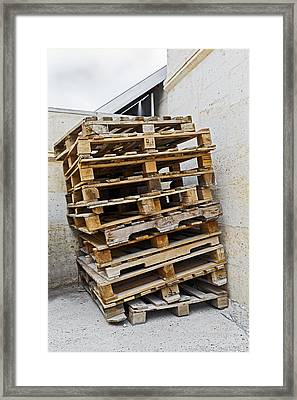 Not Very Safe Looking Stack Framed Print