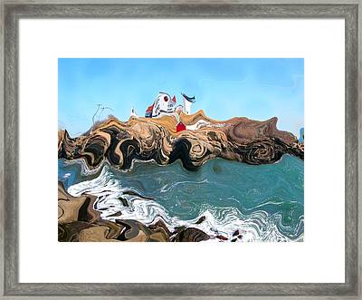 Not Your Normal Nubble Lighthouse Framed Print by Nina-Rosa Duddy