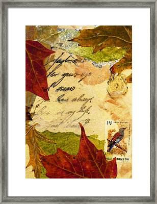 Note From Nature Framed Print by Phillip  Jaeger
