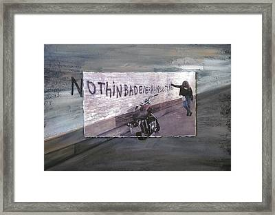 Nothin Bad Ever Happens To Me Framed Print by Anita Burgermeister
