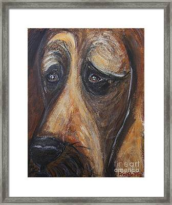 Nothin But A Hunddog Framed Print by Ania M Milo