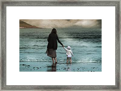 Nothing Is Too Big With A Hand To Hold Framed Print by Julie L Hoddinott