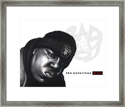 Notorious B.i.g Framed Print by Lee Appleby