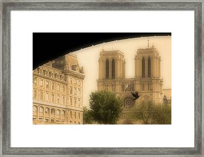 Notre Dame Cathedral Viewed Framed Print by John Sylvester