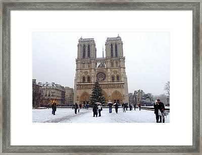 Notre Dame Christmas Paris Framed Print by Amelia Racca