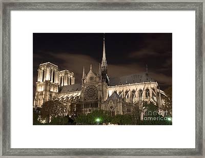 Notre Dame De Paris By Night Iv Framed Print