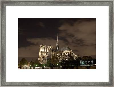Notre Dame De Paris By Night V Framed Print