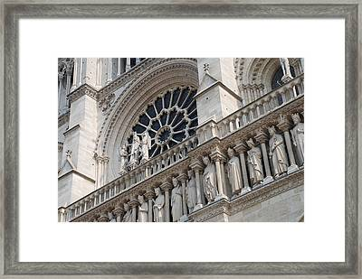 Notre Dame Details Framed Print by Jennifer Ancker