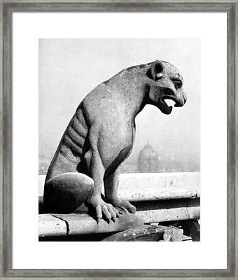 Notre Dame : Gargoyle Framed Print by Granger