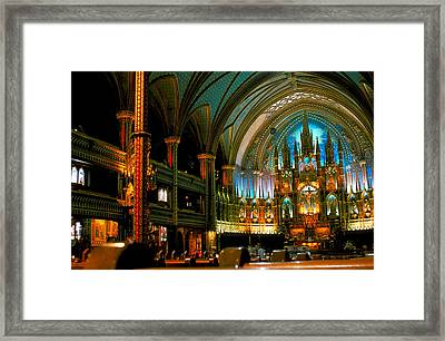 Notre Dame In Montreal Framed Print by Carl Purcell