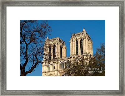 Notre Dame Towers Framed Print