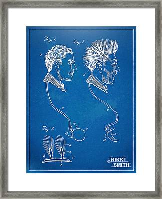 Novelty Wig Patent Artwork Framed Print