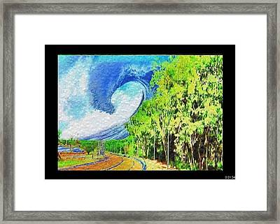Framed Print featuring the painting November Road by Beto Machado