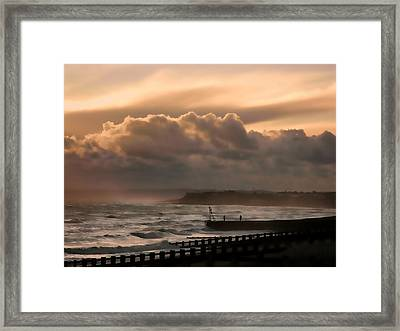 November Storm Framed Print by Sharon Lisa Clarke