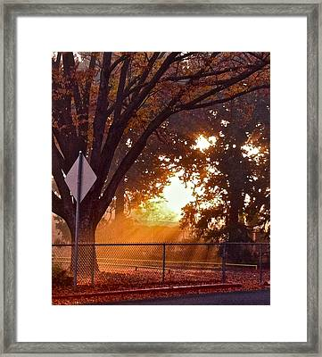 Framed Print featuring the photograph November Sunrise by Bill Owen